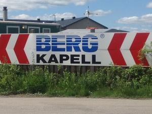 Reklamskylt - Berg Kapell